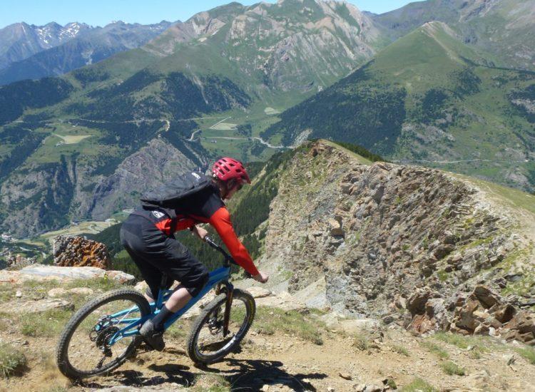 Rowan Sorrell on The Edge Natural Singletrack Andorra Mountain Biking